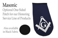 PATCH LASER-CUT MASONIC (BLACK OR NAVY)