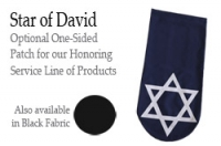 PATCH LASER-CUT STAR OF DAVID (BLACK OR NAVY)